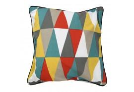Coussin carrée triangle 6 couleurs