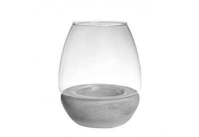 Photophore verre base ciment