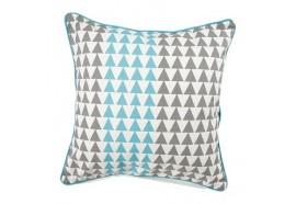Coussin carré Triangle Gris et Bleu