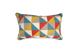 """Coussin rectangle """"triangle 5 couleurs"""""""