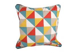 """Coussin carré """"triangle 5 couleurs"""""""