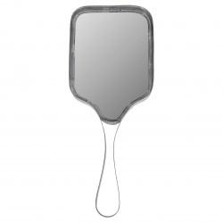 Miroir face à main métal oval